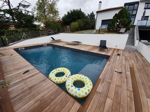 réalisation d'une terrasse de piscine